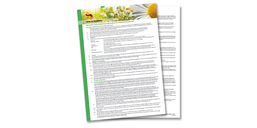 Green terms and conditions