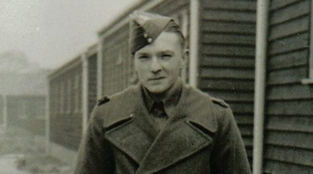 Black and white image of a soldier
