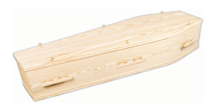 Sustainable wooden coffin
